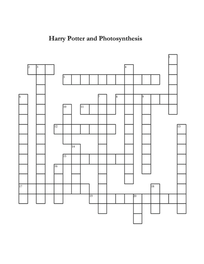 picture relating to Harry Potter Crossword Puzzle Printable called /absolutely free-puzzles--4