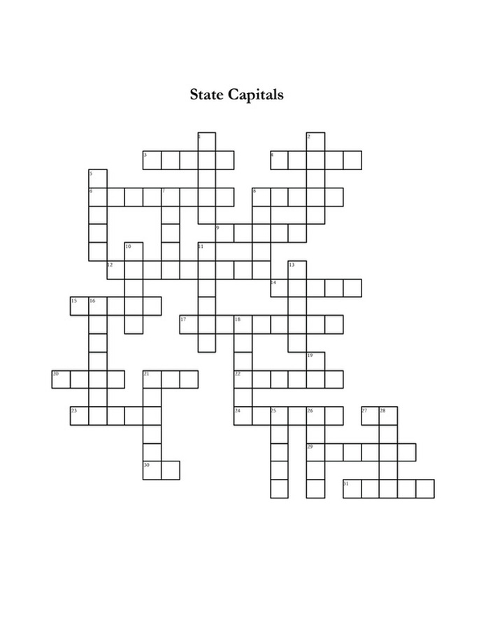 free printable crossword puzzle